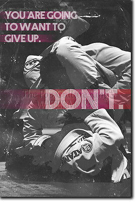 "Jiu-Jitsu Motivational Photo Print 03 ""Giving Up"" Bjj Motivation Quote Poster"