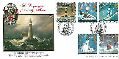 GB 1998 Lighthouses limited editiion Bradbury first day cover. #653/1000