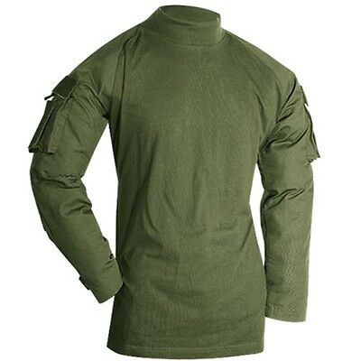 Voodoo Tactical Combat Shirt Polyester Fleece Long Sleeve OD GRN Size Small