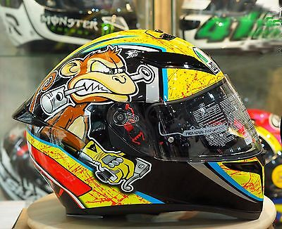 AGV K3 SV Bulega Yellow Black Motorcycles Racing Road Bike Helmet
