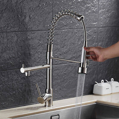 "Modern Square 8"" Rain Shower Head Faucet Sprayer Shower Hose With Shower Arm"