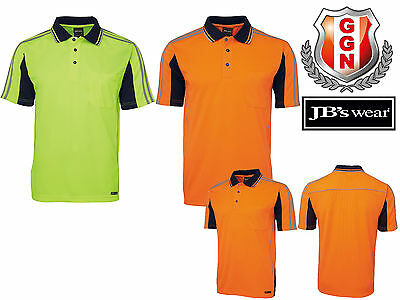 JBS HI VIS Work Polo ARM TAPE 6AT4S,SAFETY WORKWEAR,SHORT SLEEVE