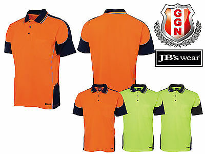 JBS HI VIS Work Polo 6HCP4 CONTRAST PIPING,SAFETY WORKWEAR,SHORT SLEEVE