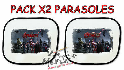 PACK 2 PARASOLES O 1 parasol VENGADORES ERA ULTRON sunshield coche car sunshade