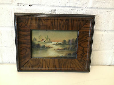 Antique Early 20th Century Signed / Monogrammed Watercolor Landscape Painting