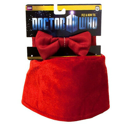 Doctor Dr Who Fez and Bow tie Set Brand new Licenced
