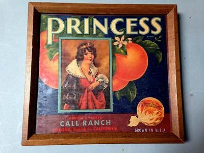 Vintage Antique Sunkist Orange Crate Label Advertising