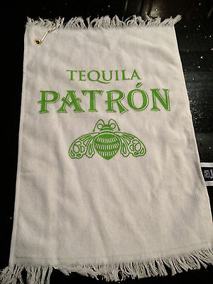 PATRON TEQUILA BAR/GOLF TOWEL NEW
