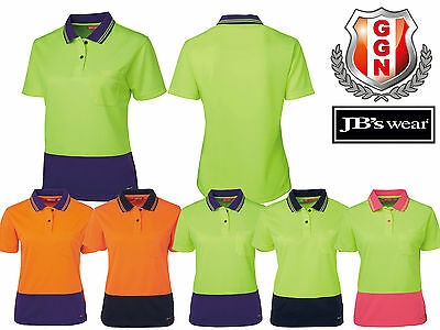 Jbs Ladies Classic High Vis Polo Shirt,safety Workwear,short Sleeve 6Lhcp
