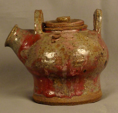 Small Eccentric Lidded Teapot With Two Handles