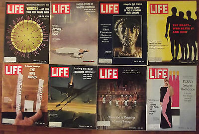 Life Magazine Lot Of 8 Issues From 1966