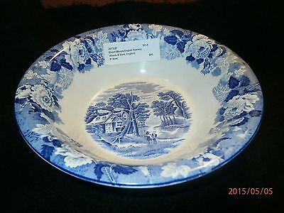 VINTAGE Enoch Wood & Sons ENGLISH SCENERY BLUE  Round  Bowl  8 1/8""