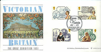 GB 1987 Victorian Britain limited edition Bradbury first day cover. #487/1000