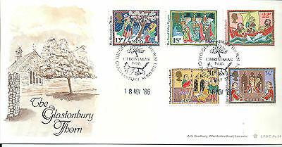 GB 1986 Christmas limited edition Bradbury first day cover. #306/1000