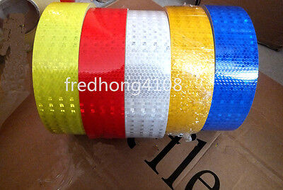 "Safety Reflective Warning Sticker Self Adhesive Tape 5 Color 2"" 5cm Width"
