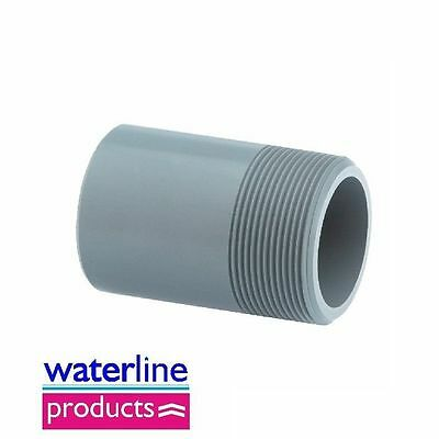 Barrell Nipple Plain/BSP Threaded Adaptor Grey uPVC Pipe Fitting Imperial