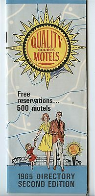 Old 1965 Quality Courts Motels Directory Second Edition