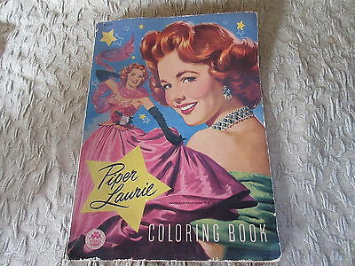 Old 1953 Piper Laurie Coloring Book by Merrill Co