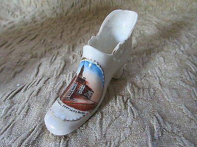 Antique Souvenir Porcelain Shoe New City Hall Portland Maine