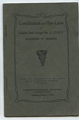 Antique 1906 Booklet Constitution & Bye-Laws Daughters of Rebekah Lodge Booklet