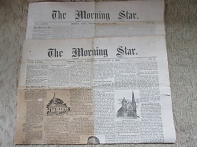 2 Old Issues The Morning State Newspaper Boston 1893
