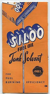 Old 1950's Siloo Fuel Oil Tank Solvent Advertising Brochure