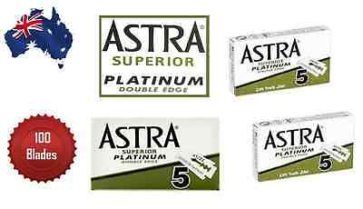 Astra Superior Platinum Double Edge Razor Blades Pack Of 100 Blades