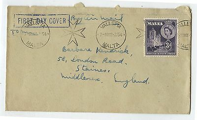 Old Malta Royal Visit First Day Cover 1954