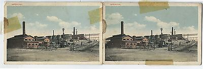 2 Antique Postcards Imperoyal Oil Refinery