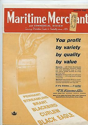 Old March 1960 Maritime Merchant Commercial Review Magazine