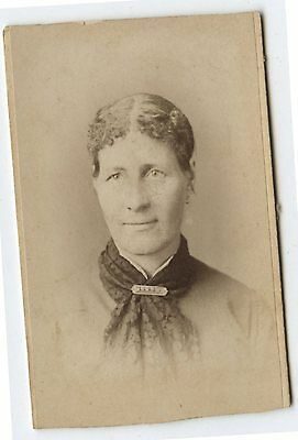 Antique CDV Photo Mrs Mary Graham by Adams Gloucester Mass