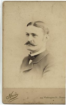 Antique Cabinet Photo Man J.P.Bradbury by Hardy Boston Mass