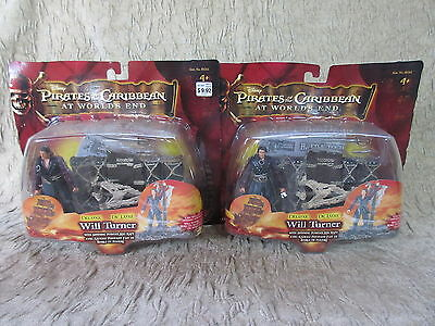 2 Disney Pirates of the Caribbean World's End Will Turner Action Figures  Zizzle