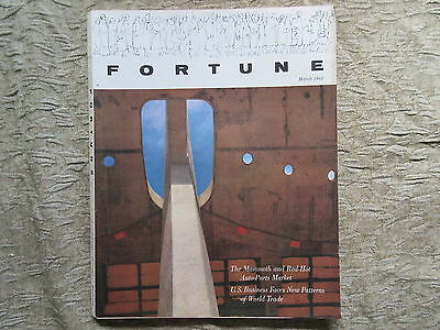 Old Issue Fortune Magazine March 1962 Dan Page Photo Cover Dulles airport