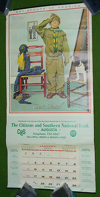 1972 Norman Rockwell BOY SCOUT Calendar C&S Bank Augusta Georgia Collectors L@@K