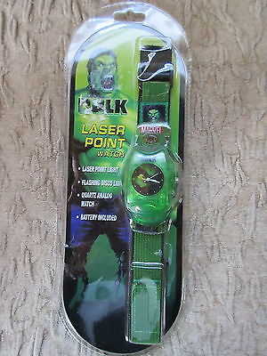 The Hulk Movie Marvel Laser Point Wristwatch MIP Never opened