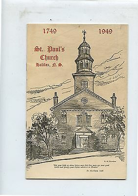 Old St.Paul's Church Halifax NS Booklet 1749-1949