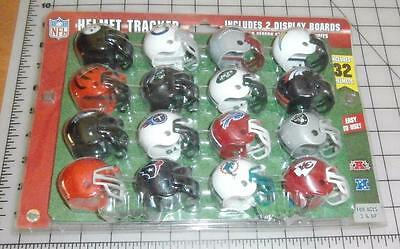 NFL Riddell Standings Tracker Set Of 32 Pocket Sized Helmets&Display Boards New