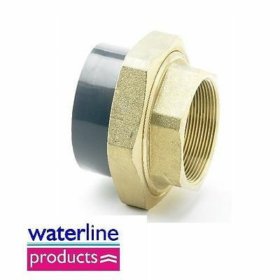 Composite Union Female Brass BSP Thread / Plain Grey uPVC Pipe Fitting Imperial