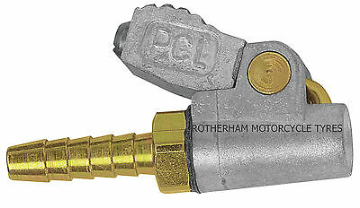 New Genuine Pcl Tyre Valve Single Clip On Air Connector Open End Hose 6.35Mm 1/4