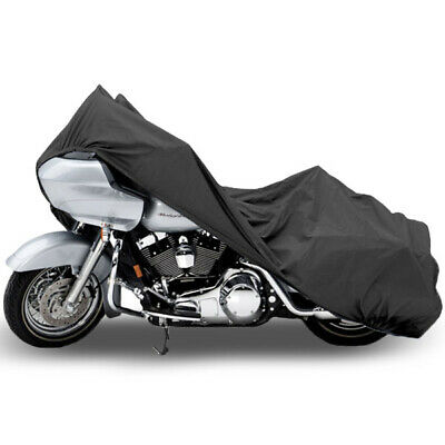 """Motorcycle Dust Cover Grey X-Large 107"""" Length Indoor Winter Storage Protection"""