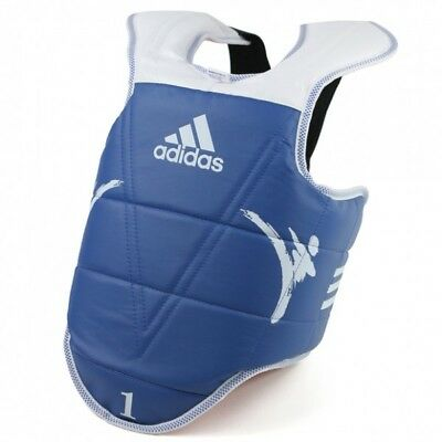 adidas KIDS Taekwondo Chest Body Protector Karate Guard REVERSIBLE Sparring Gear