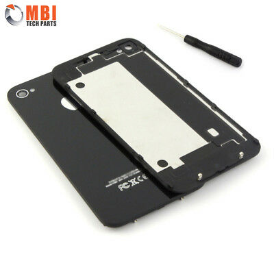 New Replacement Back Rear Glass Battery Cover for iPhone 4 4G A1332 - Black