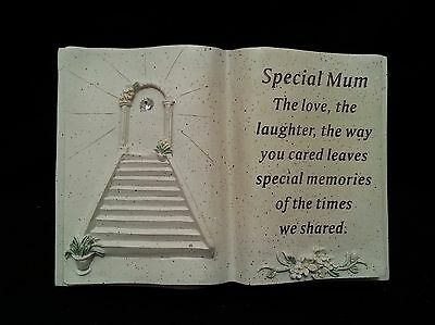 Special Mum Stairway To Heaven Lily Memorial Grave Book Garden Ornament