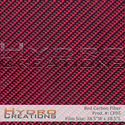 Hydrographic Film For Hydro Dipping Water Transfer Film Carbon Fiber Red