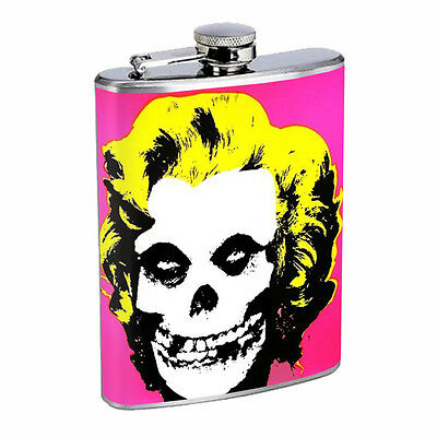 Skull Flask D89 8oz Stainless Steel Scary Horror Death Frightening
