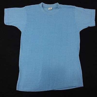 vintage 80's JC PENNEY t shirt blank Made in USA blue deadstock sz S