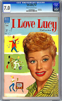 I LOVE LUCY #1 CGC 7.0 *aka FOUR COLOR #535* CLASSIC 1950'S TV SERIES DELL 1954
