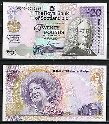 Escocia Royal Bank Of Scotland 20 Pounds 2000 Conmemorative   Sc  Unc