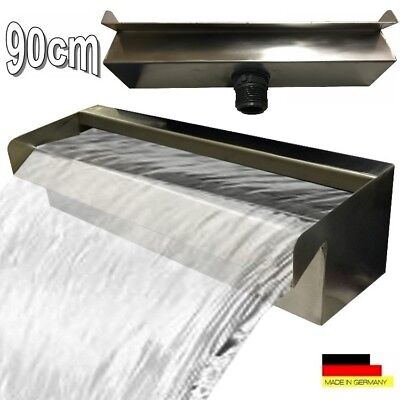 "Waterfall 90 cm Stainless Steel Waterfall fountain cascade V2A ""Made in Germany"""